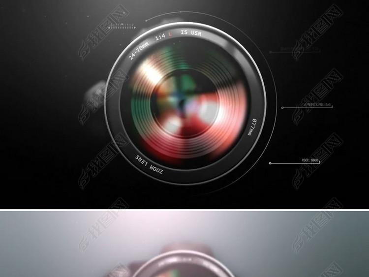 单反相机摄影logo演绎片头模板