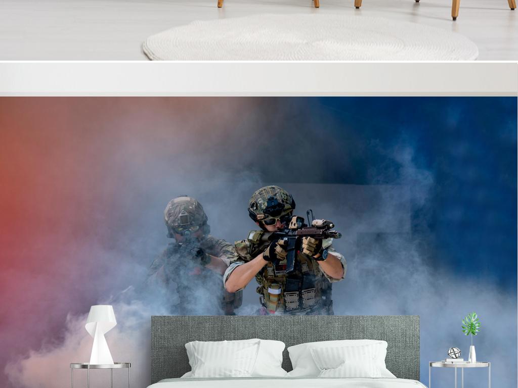 背景墙 电视背景墙 手绘电视背景墙 > 真人吃鸡游戏真人cs背景墙