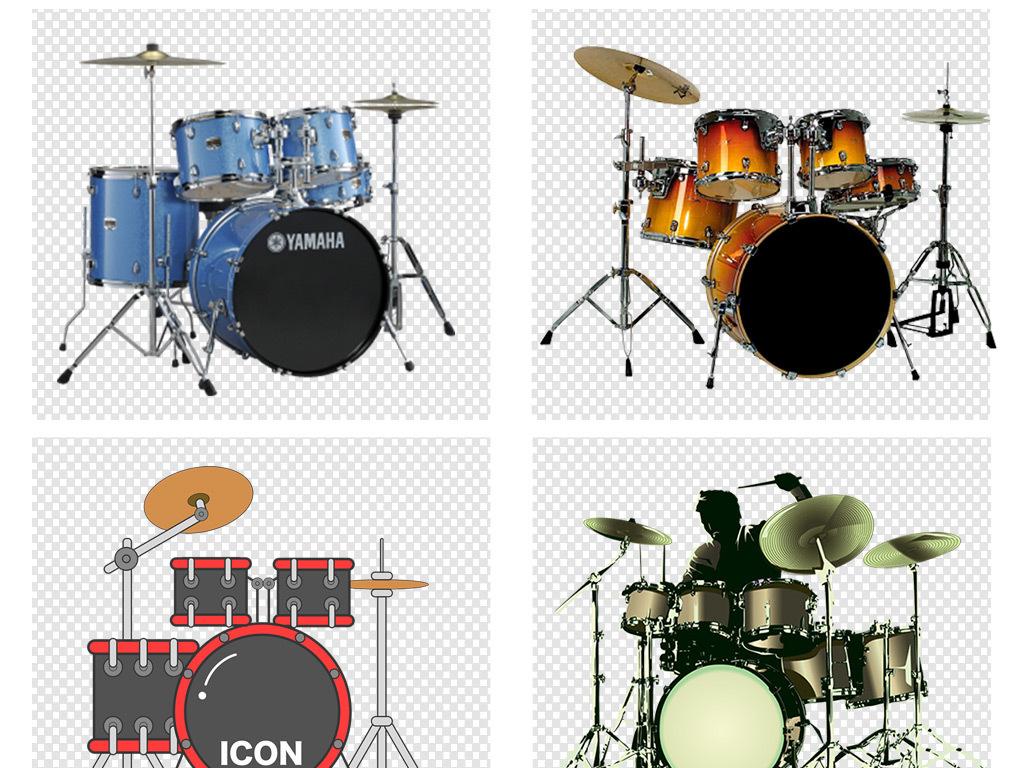 乐器架子鼓音乐会海报png素材