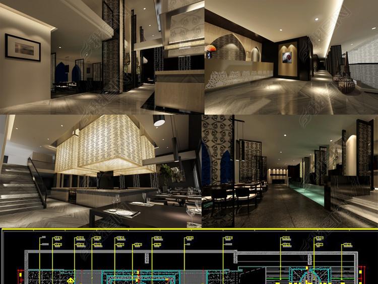 全套伊斯兰餐厅CAD施工图效果图