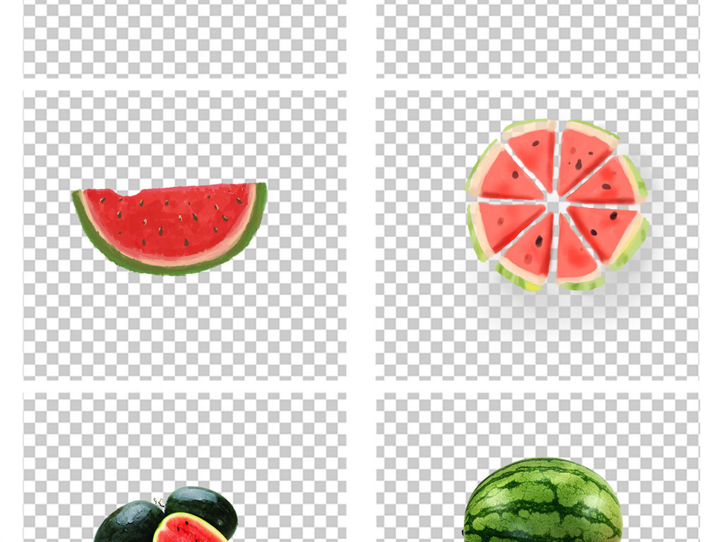 夏日冰爽手绘卡通夏季水果西瓜
