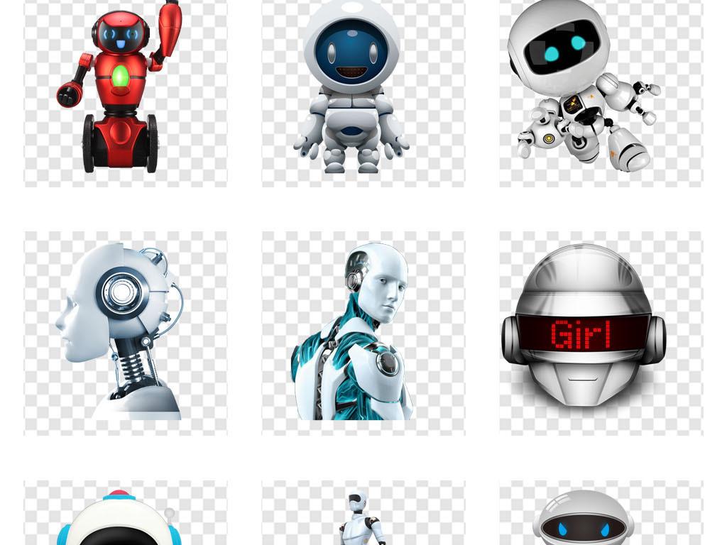 免抠元素 人物形象 动漫人物 > 人工智能未来科技时尚智能机器人ppt素