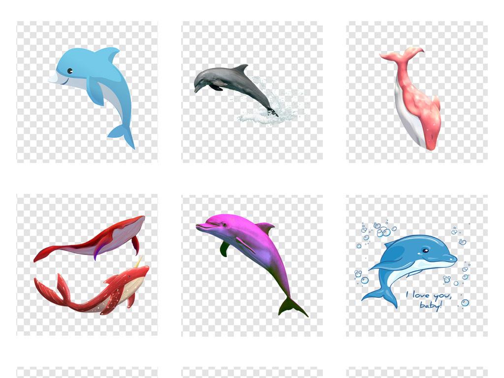 卡通海豚                                          手绘海豚