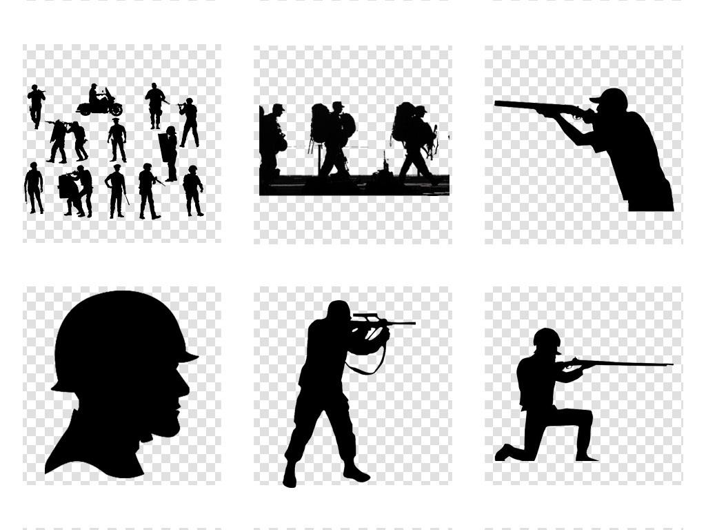烈士雕像部队军人战士士兵人物剪影png免扣素材