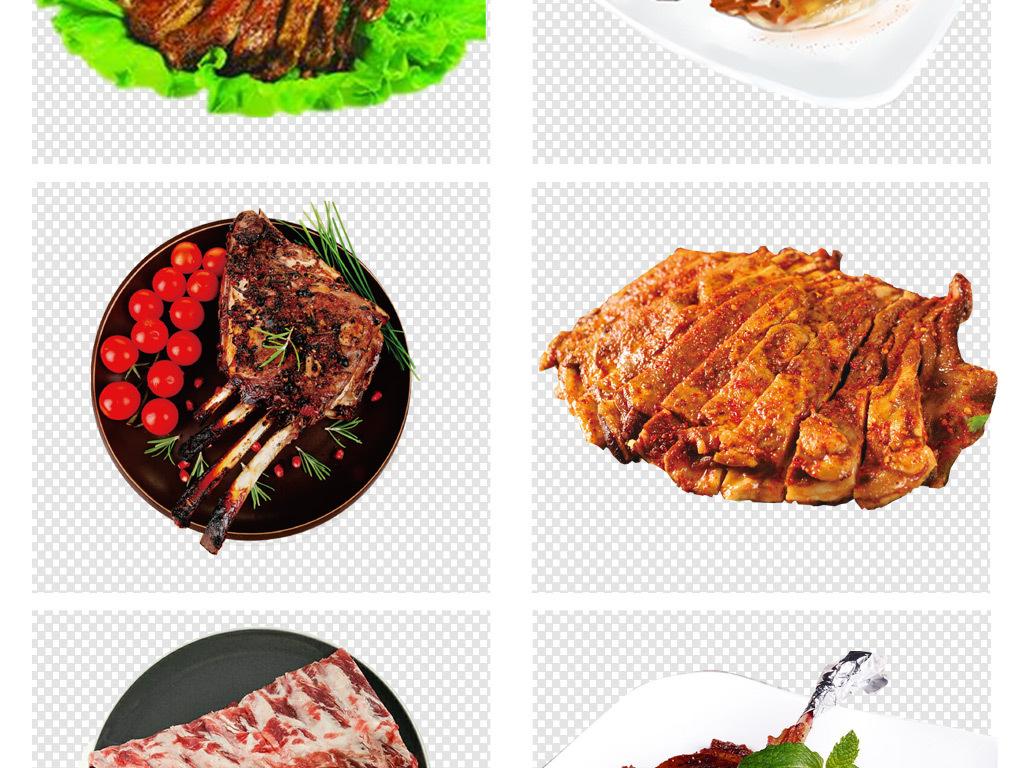 烧烤美食广告美食烤肉素材餐饮美食牛排手绘素材美食素材手绘美食餐