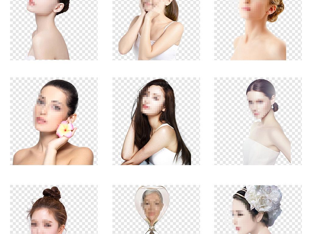 欧美美女彩妆模特护肤品广告模特png素材