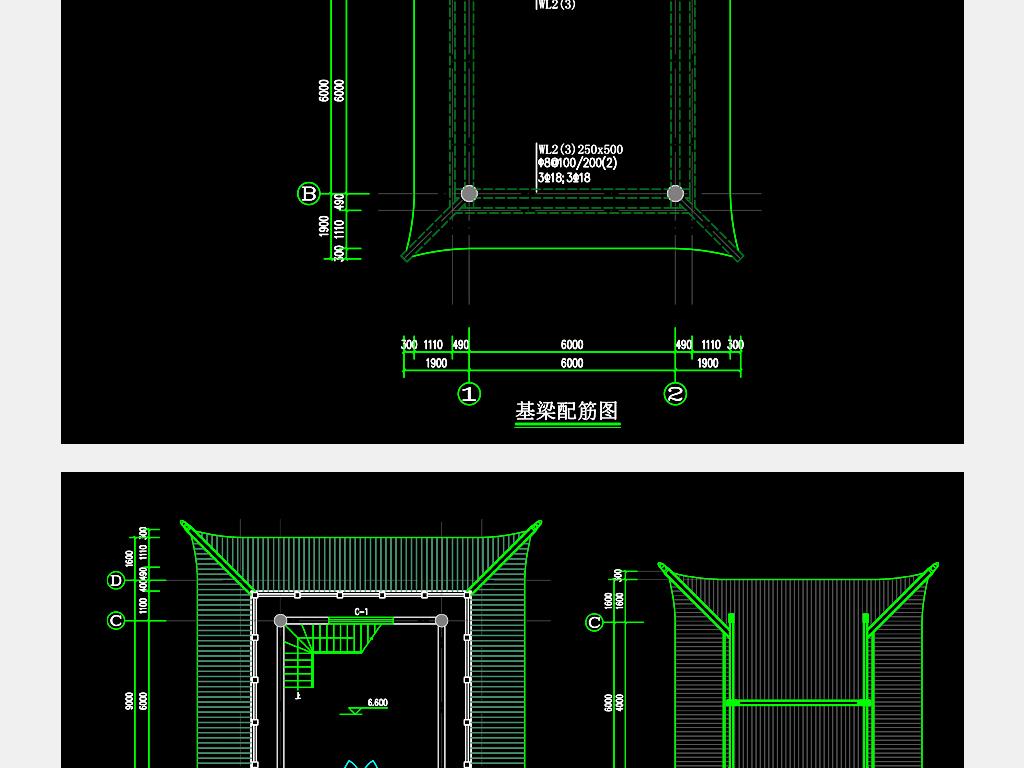 钟楼建筑cad图纸