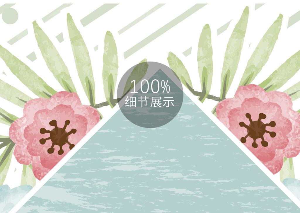 ins风北欧夏日清新手绘花卉装饰艺术画