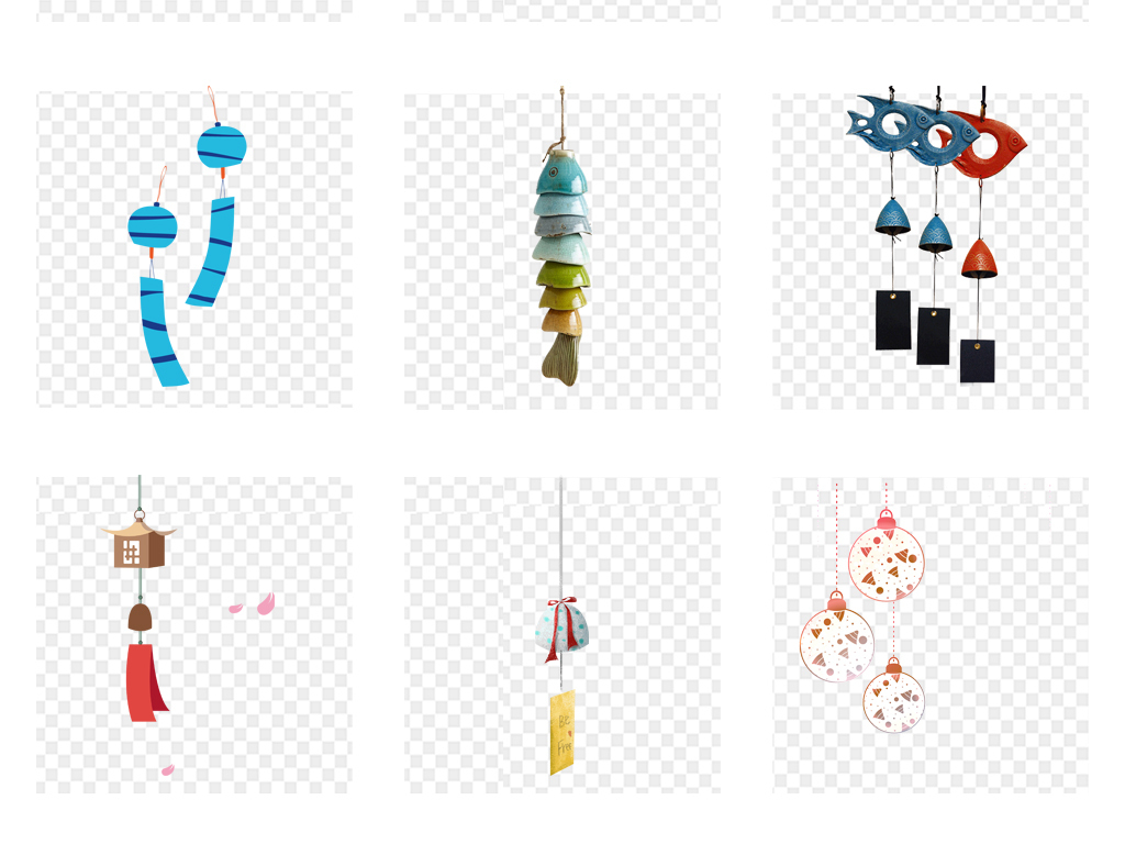 卡通手绘风铃铃铛日本png元素图片素材_模板下载(16.