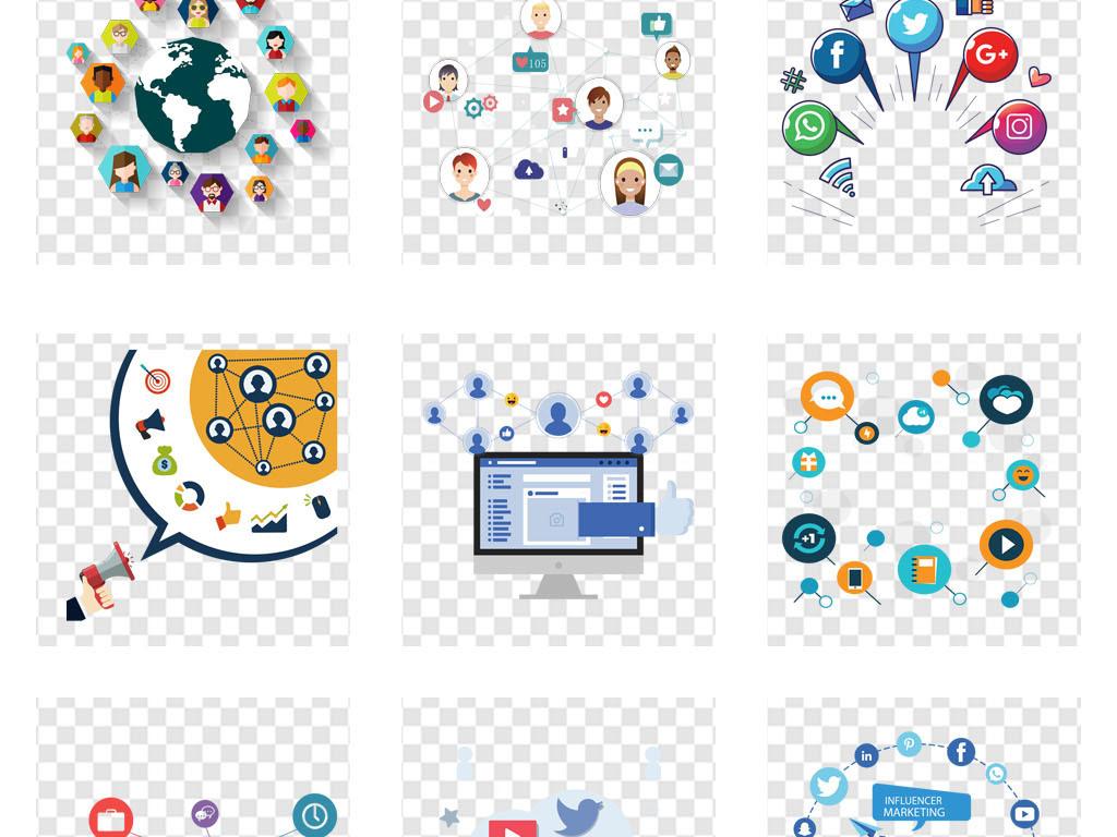 图标 > 电商互联网网络平台社交元素演示ppt素材  素材图片参数: 编号图片