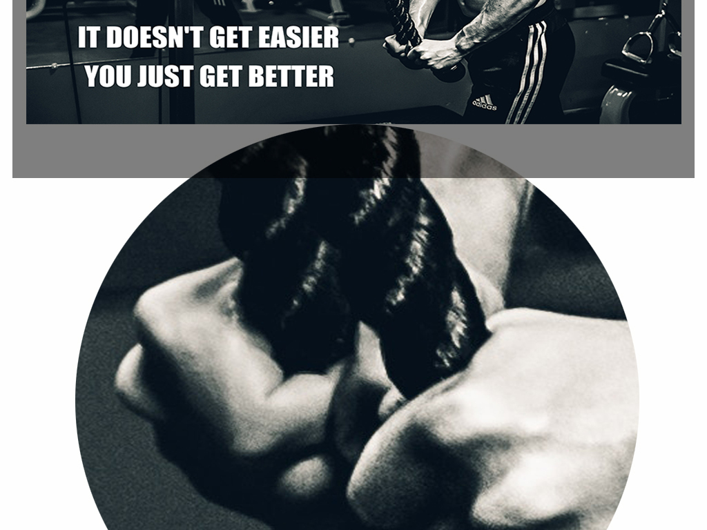 黑色欧美肌肉男女运动健身背景墙图片设计素材 高清psd模板下载 116.