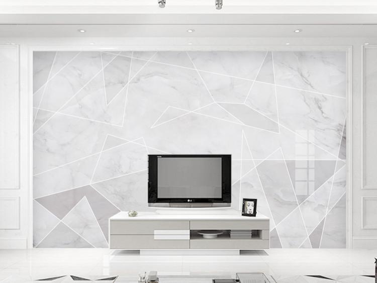 现代简约欧式大理石纹理电视背景墙装饰画