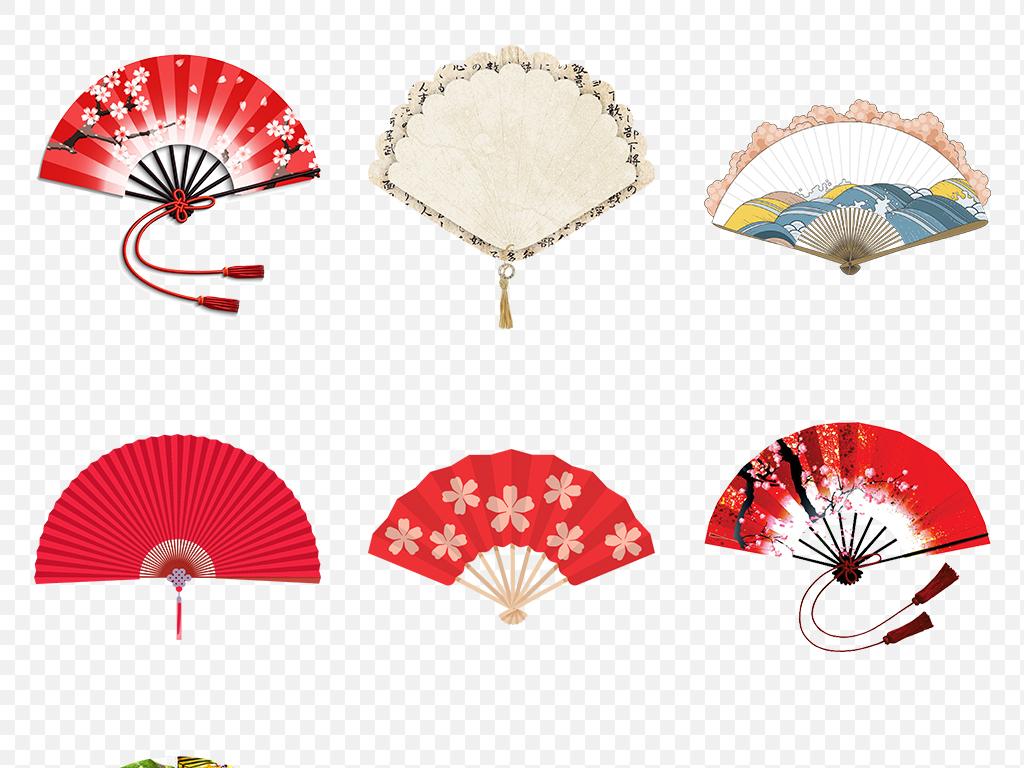中国风古典古风扇子海报素材背景png