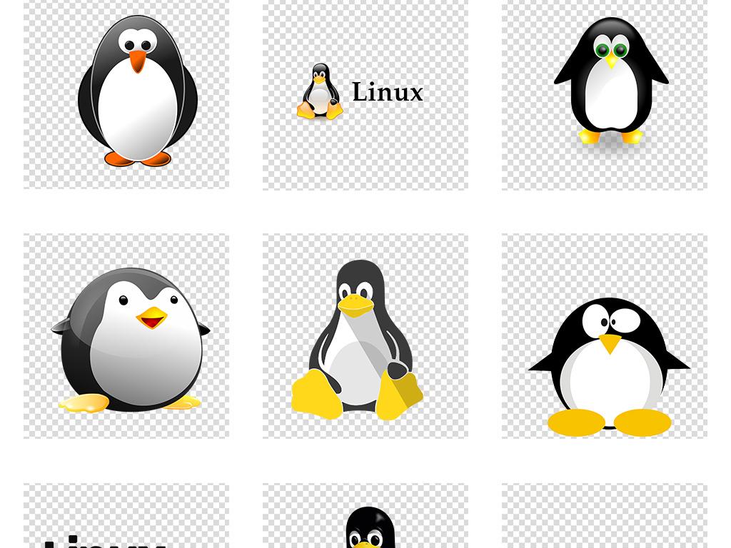 企鹅手绘画涂颜色