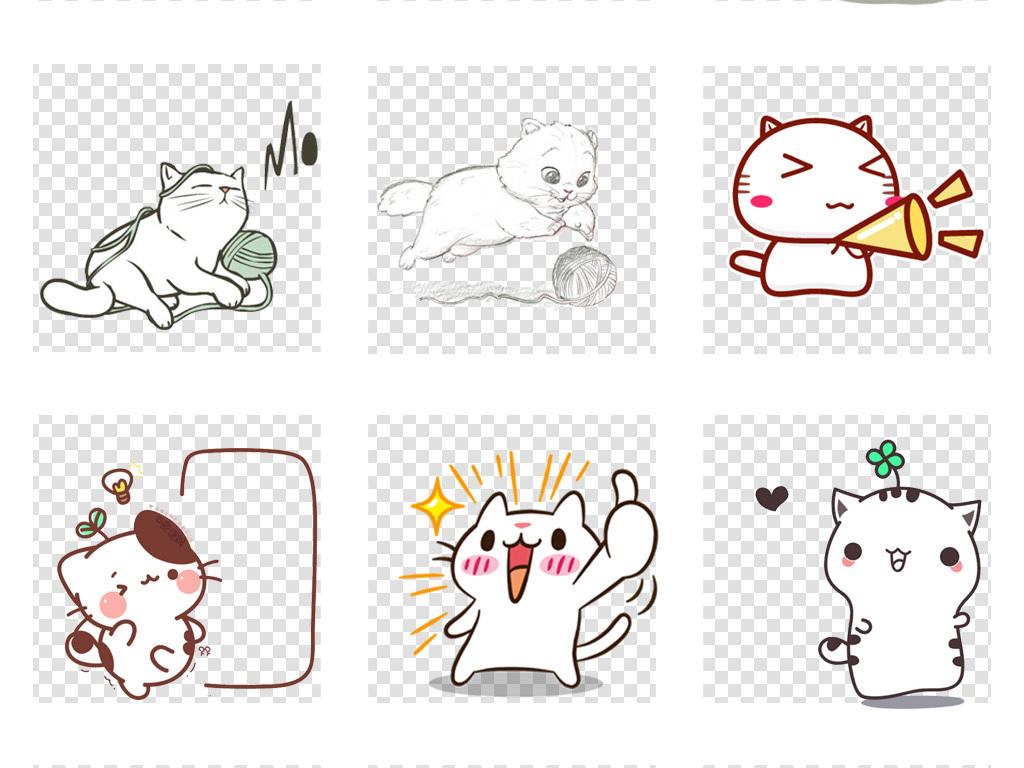 卡通手绘猫可爱小猫咪动物宠物海报png设计素材