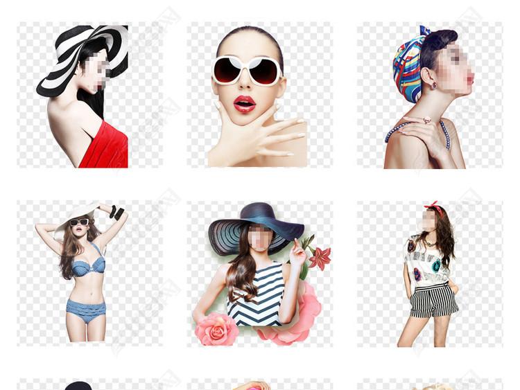 欧美时尚美女时装模特服装海报背景PNG免扣素材