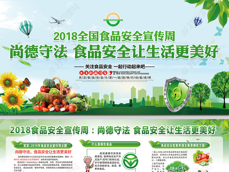 2018年全国食品安全宣传周活动展板