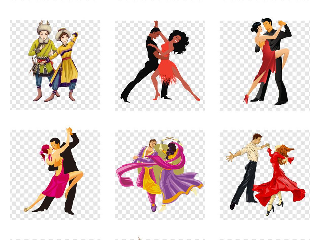 卡通手绘跳舞人物舞蹈培训招生海报png设计素材