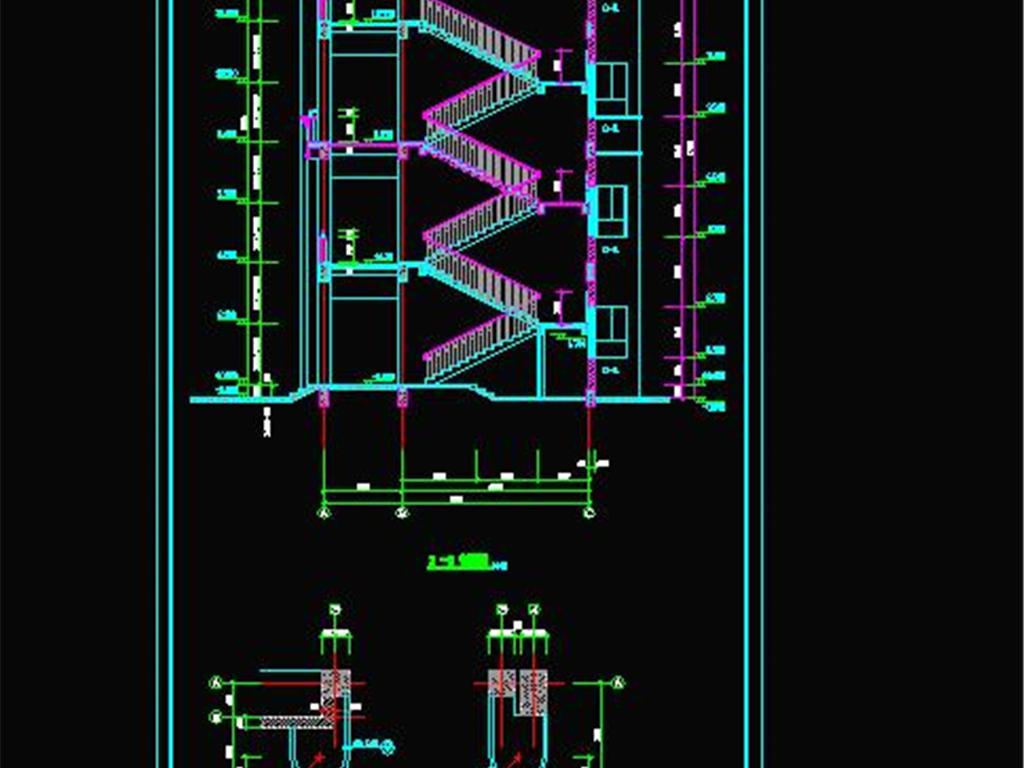 我图网提供独家原创整套教学楼建筑设计CAD图纸正版素材下载, 此素材为原创版权图片,图片可商用,作品体积为,是设计师mail31701943在2018-07-10 21:51:59上传, 素材尺寸/像素为-高清品质图片-分辨率为, 颜色模式为,所属节点剖面图CAD分类,此原创格式素材图片已被下载0次,被收藏76次,作品模板源文件下载后可在本地用软件 AutoCAD 2007(.