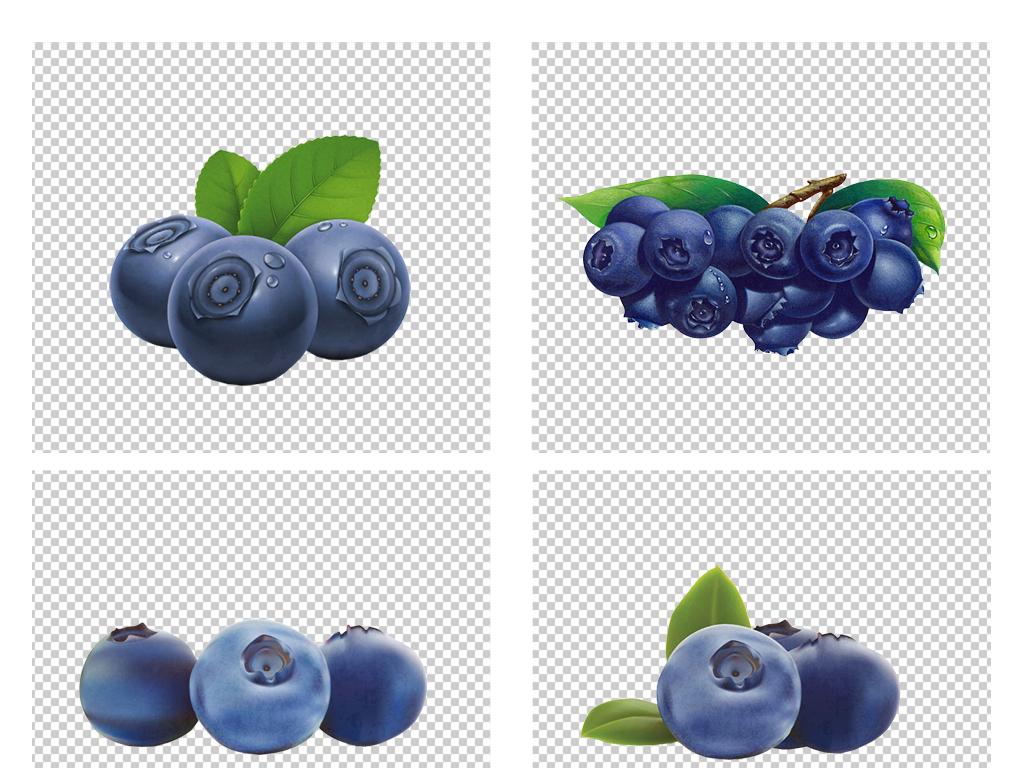 手绘卡通水果蓝莓png免扣素材