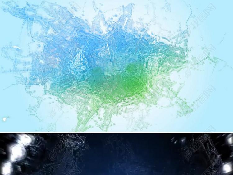水花动画logo标志演绎ae模板