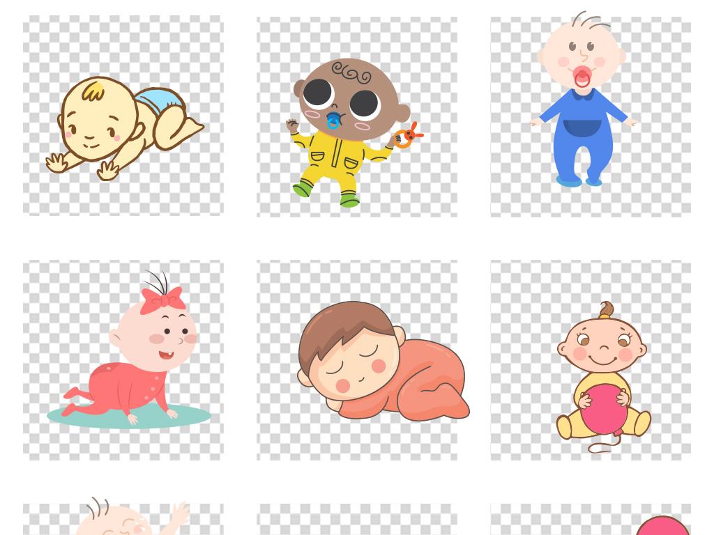 小女孩新生婴儿可爱的孩子卡通卡通人物嘟嘴卖萌尿不湿儿童图片婴儿