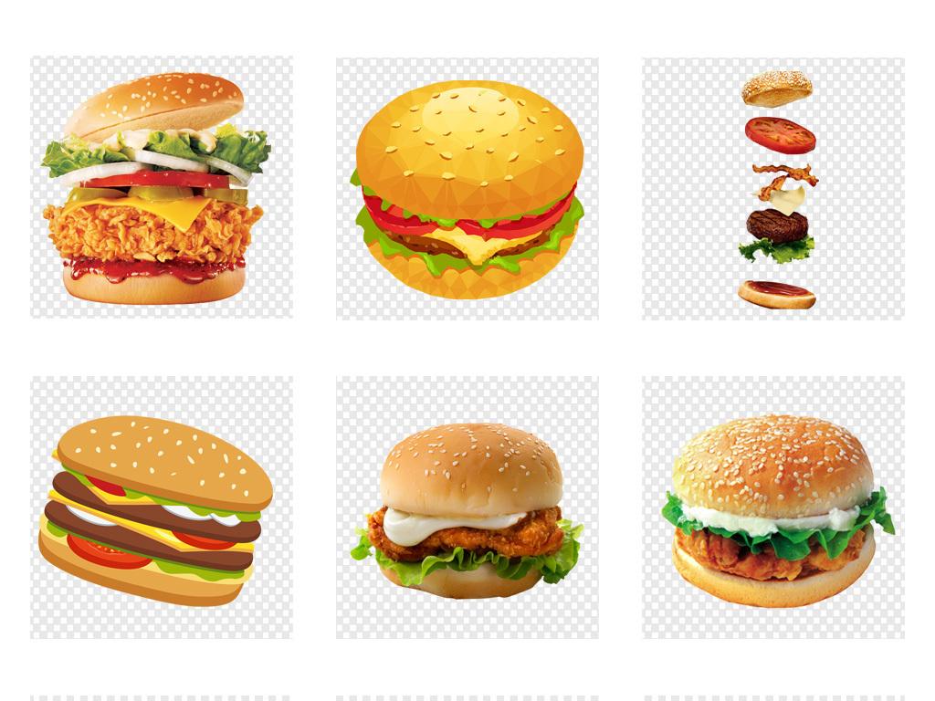 手绘汉堡包插图海报背景png免扣素材