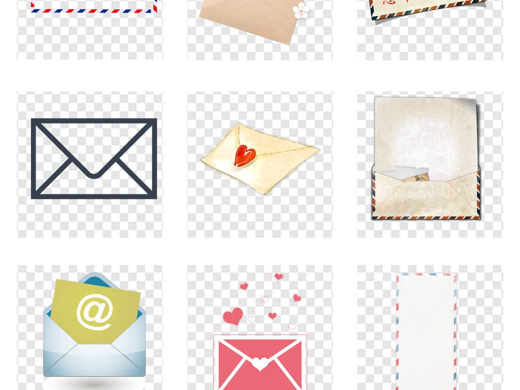 复古信封图标手绘邮箱画册海报png素材