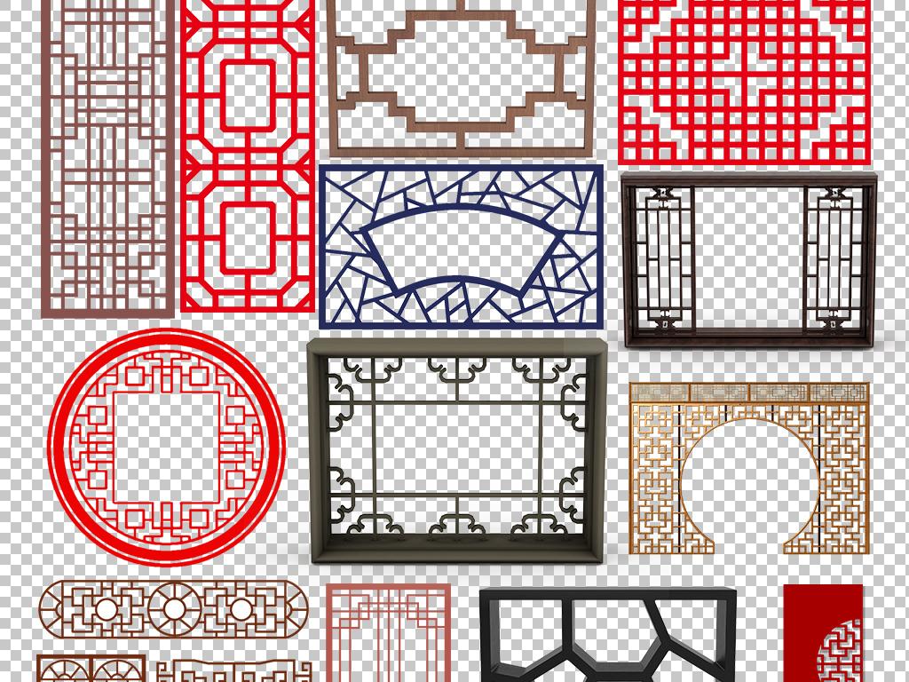 圆形木质窗户窗帘素材欧式窗户古代屏风雕花素素材屏风窗户古代中国