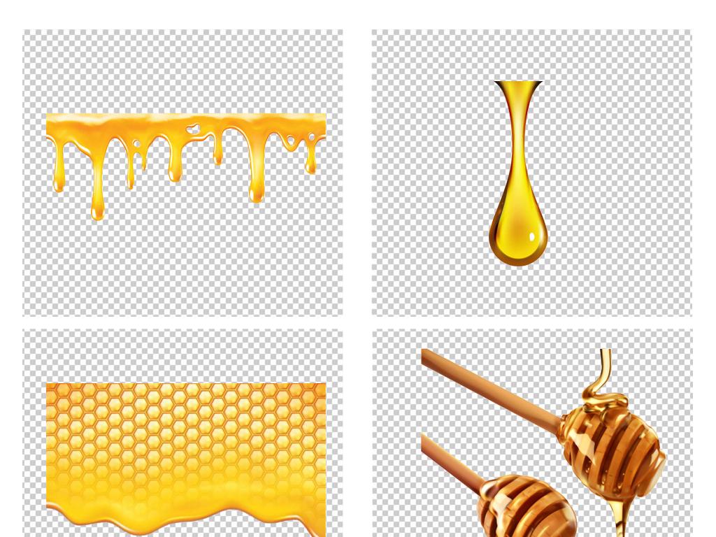 手绘卡通金色蜂蜜蜂窝蜂巢png免扣素材