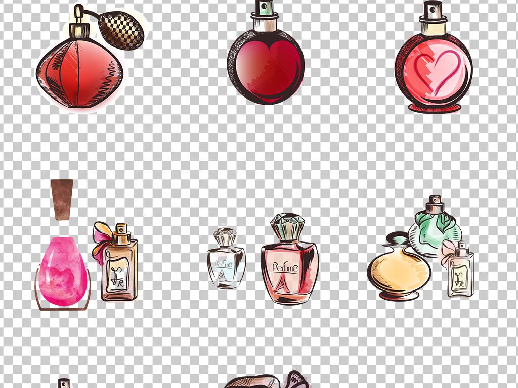 0950手绘香水女士香水优雅清香各种款式香水免抠素材