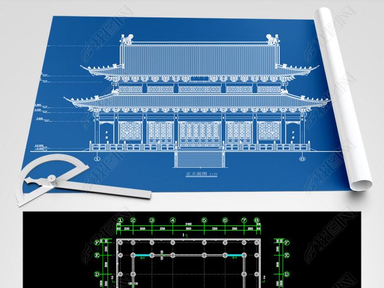 观音殿建筑结构CAD图纸