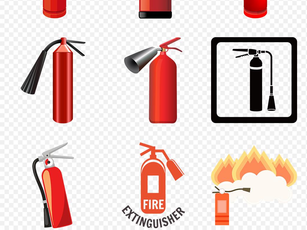灭火器消防器材海报素材背景PNG设计元素图片 模板下载 17.51MB 其他大全 生活工作