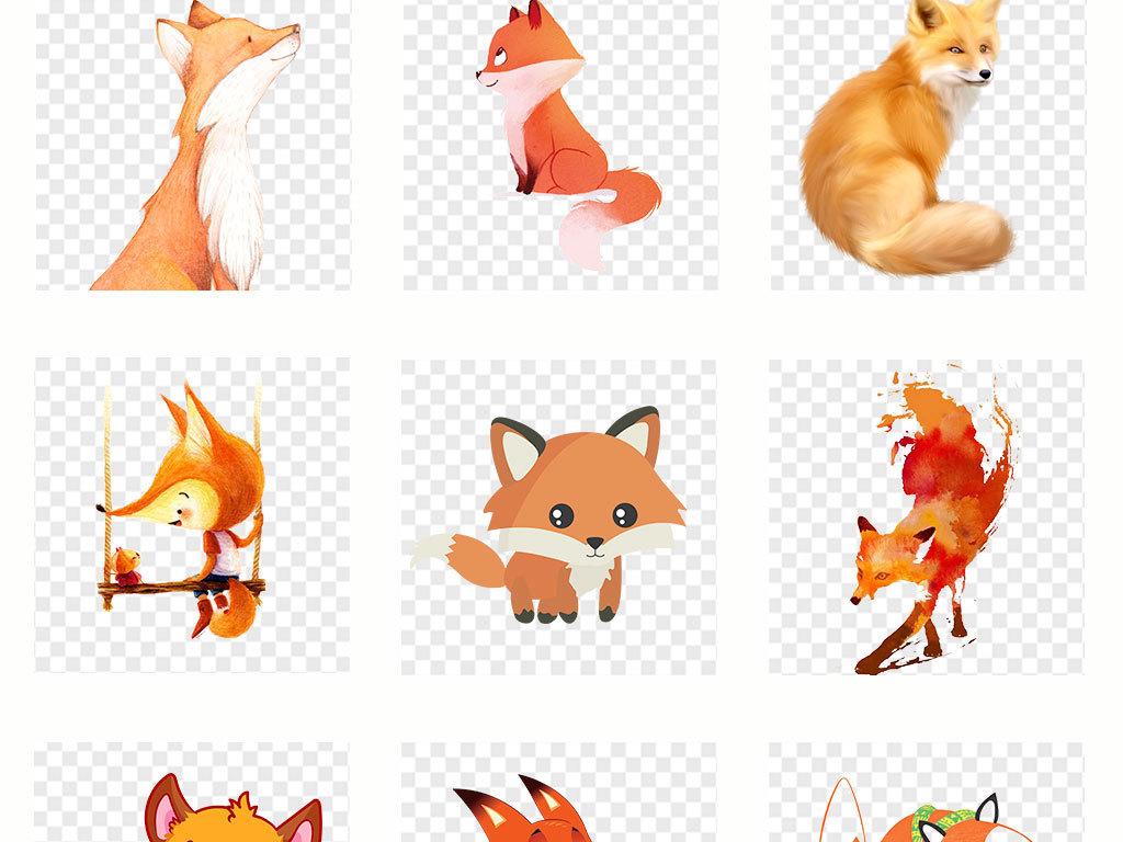 手绘动物                                          卡通狐狸