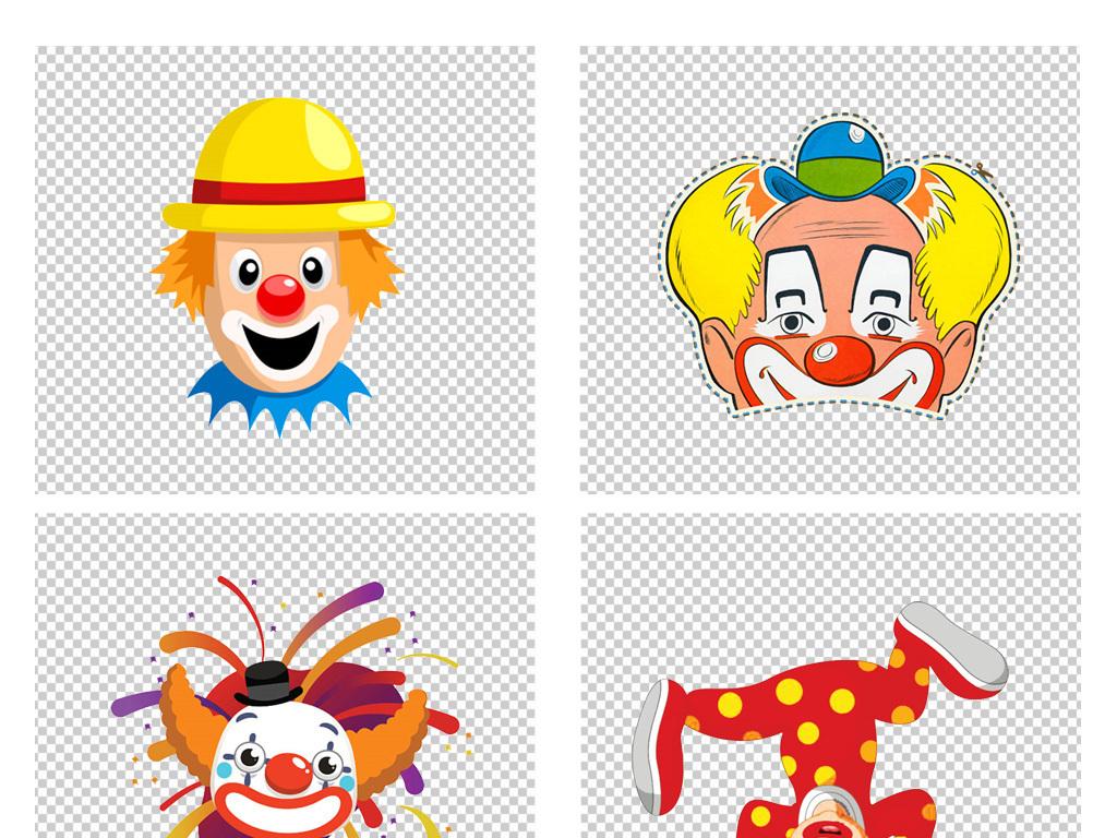 免抠元素 人物形象 动漫人物 > 卡通手绘游乐园马戏团可爱玩球的小丑