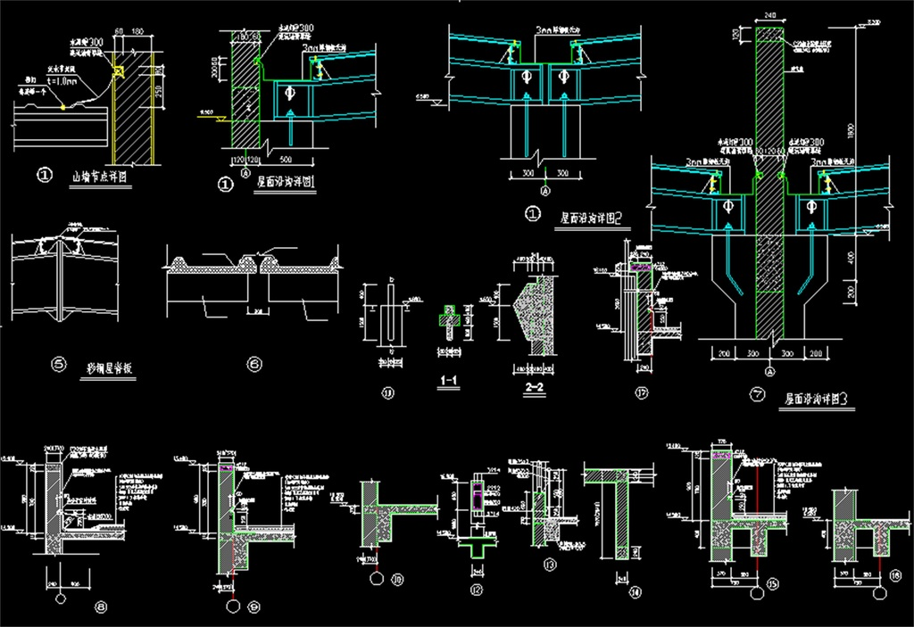 钢结构厂房车间cad建筑图