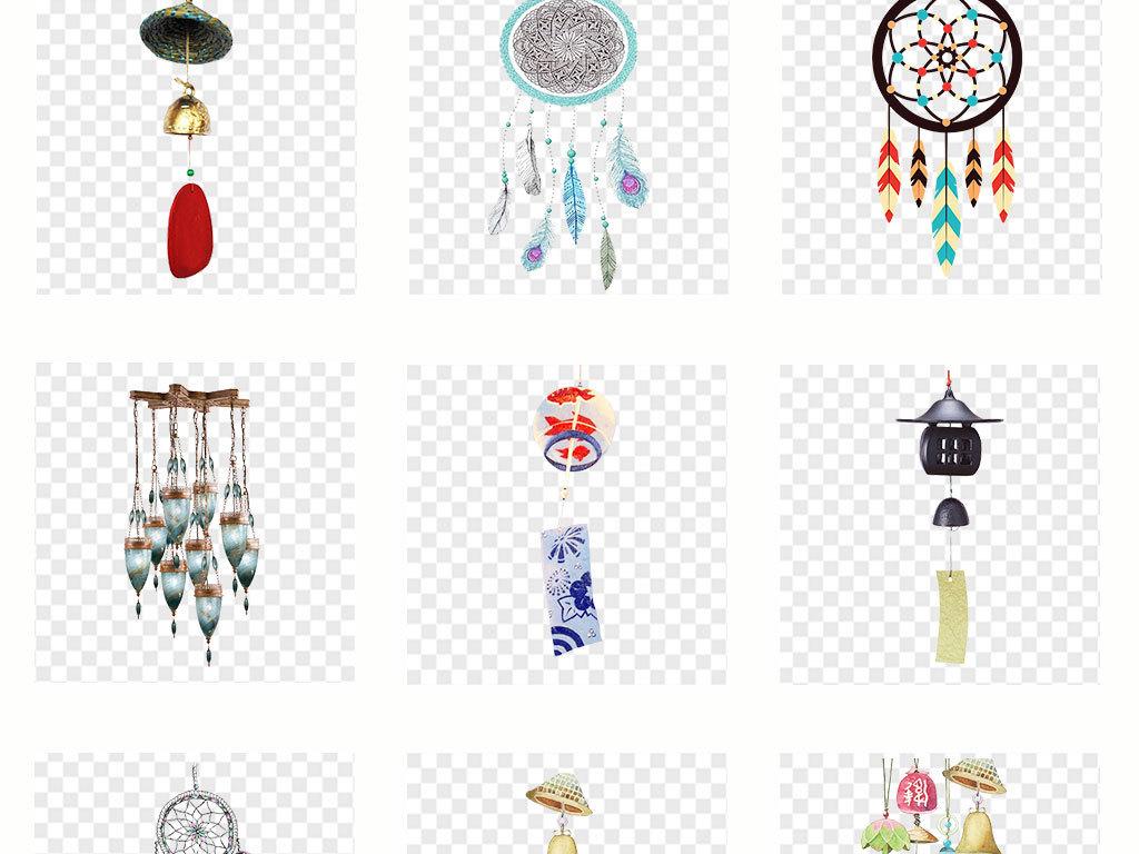 音乐手绘风铃铃铛日本招生背景png素材