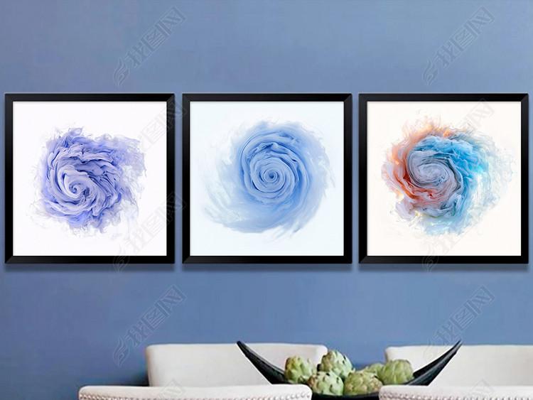 北欧简约现代抽象水彩花卉艺术装饰画