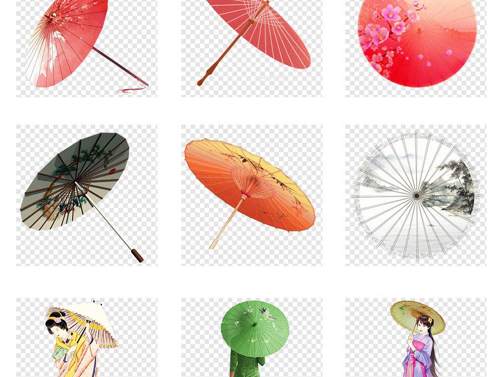 中国古风油纸伞雨伞花伞png免抠素材