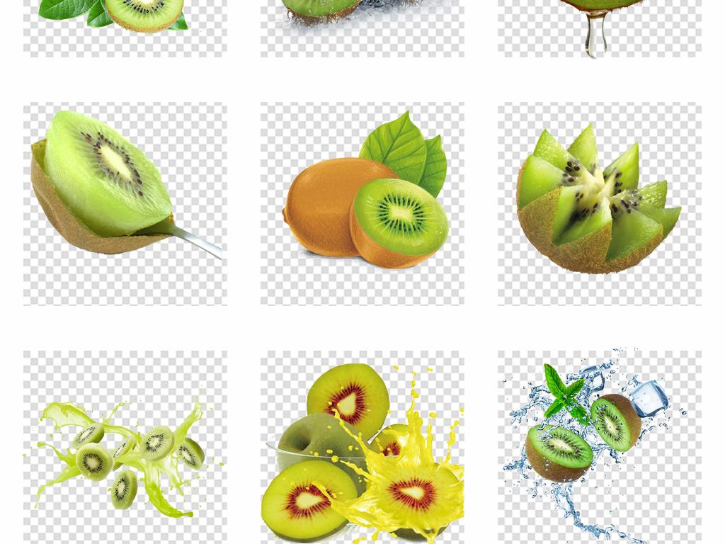 瓜果食材绿色手绘水果大全素材