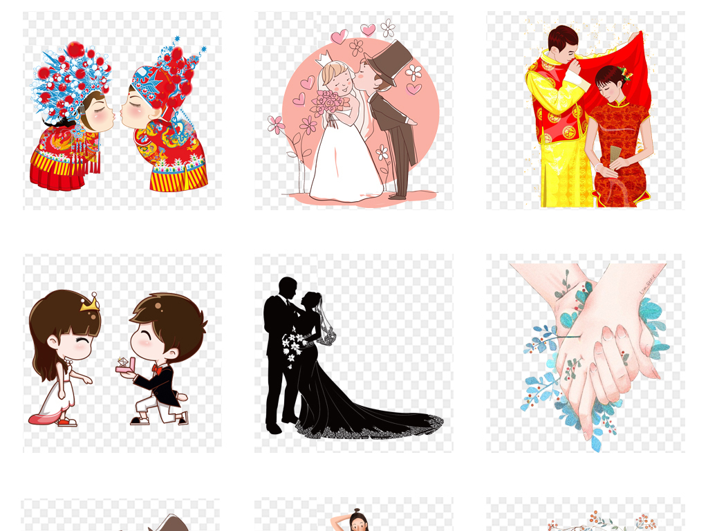 可爱卡通人物素材情侣人物素材恋爱唯美情侣情侣素材唯美人物情侣人物