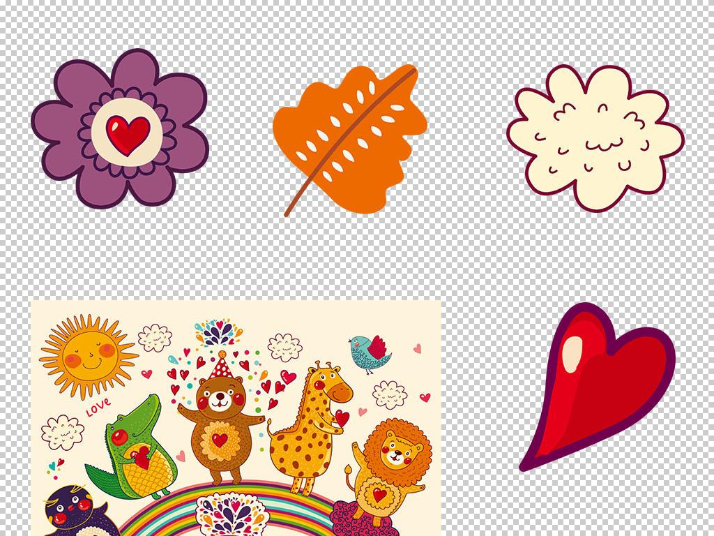 可爱手绘卡通动物图片素材_模板下载(11.83mb)_动物