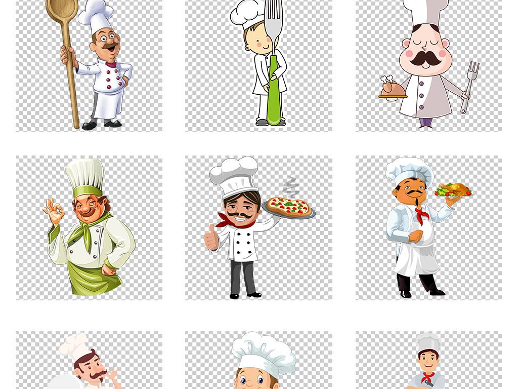 免抠元素 人物形象 商务人士 > 卡通手绘厨师服务员日式料理师美食