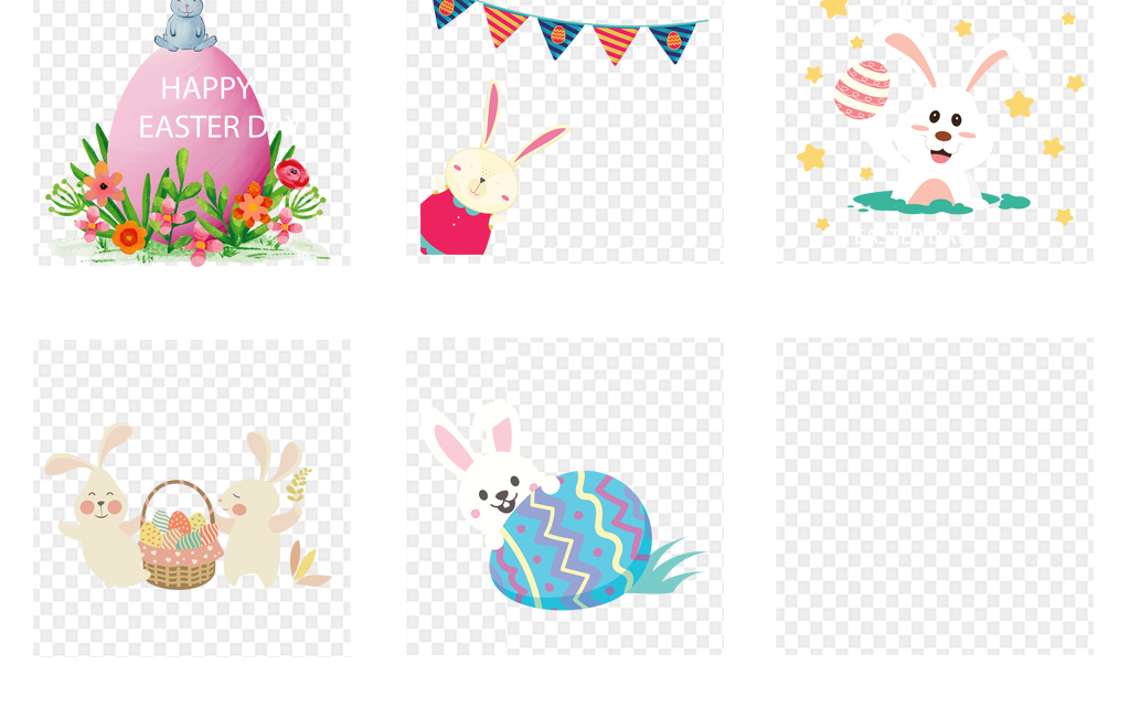手绘小清新兔子图片