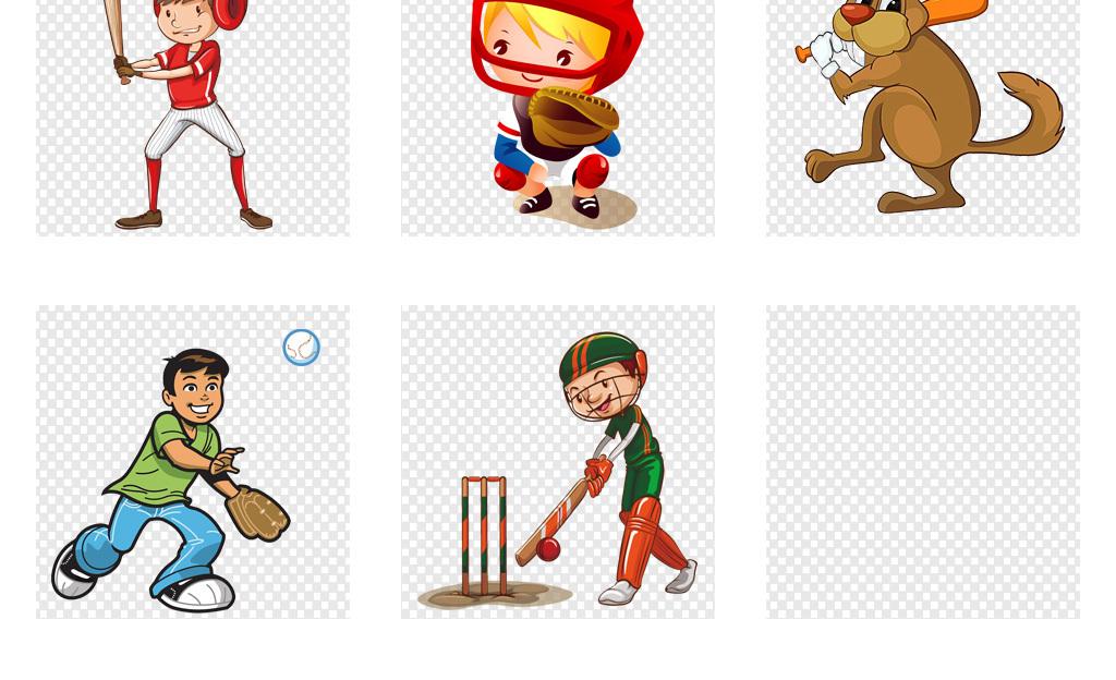 免抠元素 人物形象 动漫人物 > 卡通儿童打棒球棒球比赛培训海报背景