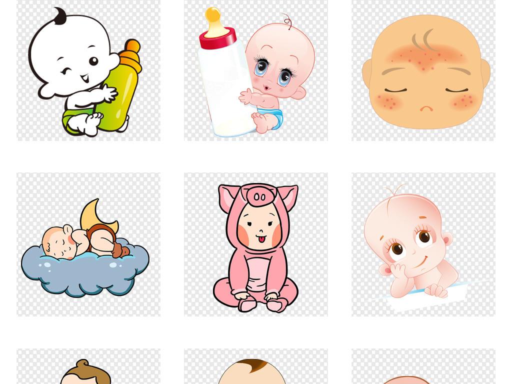 免抠元素 人物形象 动漫人物 > 手绘卡通婴幼儿小孩宝宝儿童海报背景p
