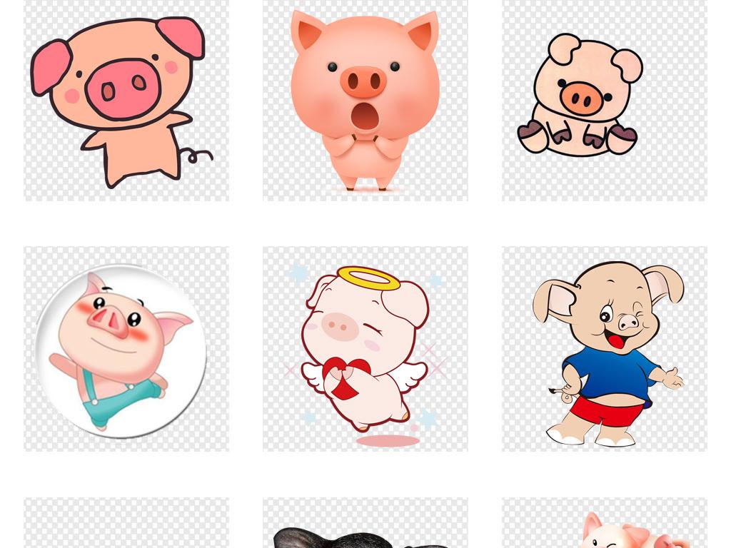 卡通可爱猪头小动物小猪免抠png素材图片_模板下载(31