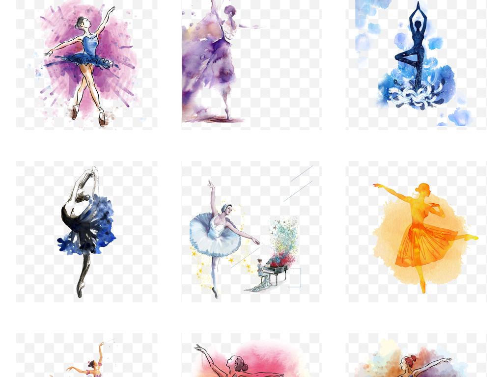 卡通芭蕾手绘