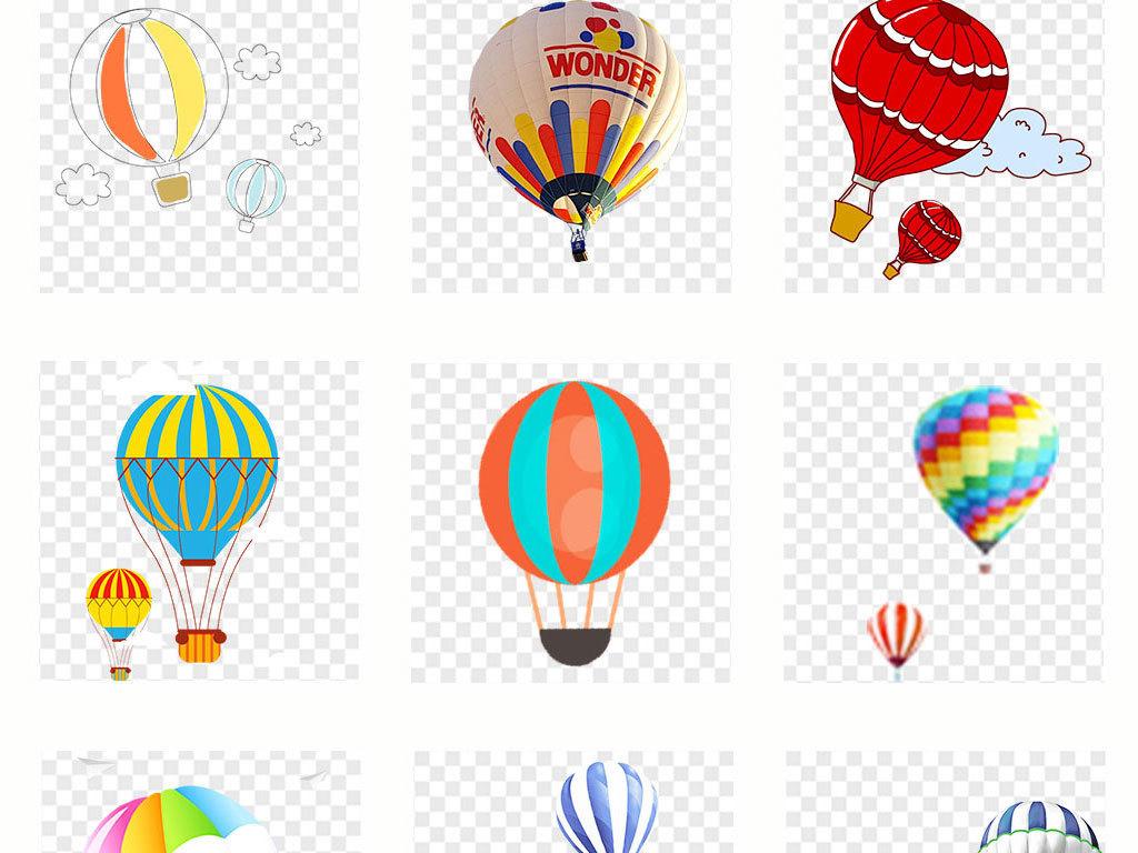 可爱卡通手绘节日气球png透明背景免扣素材