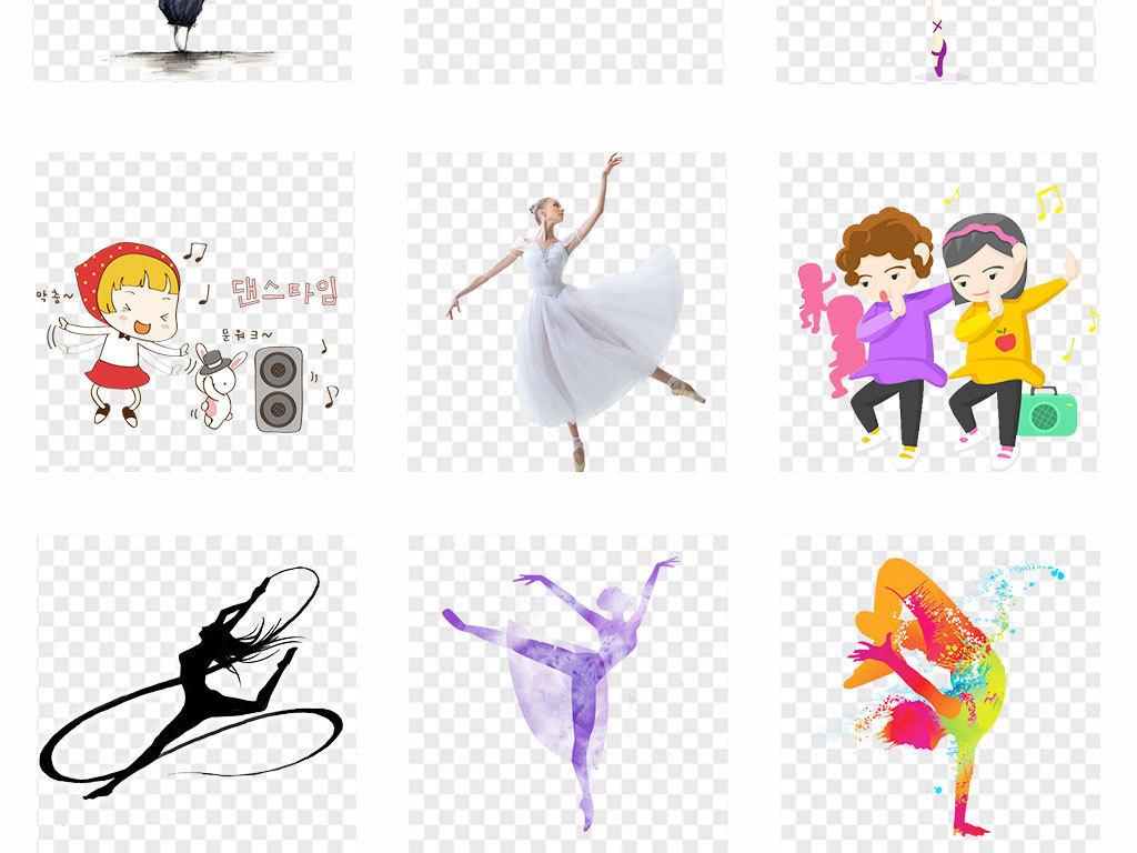 免抠元素 人物形象 动漫人物 > 卡通儿童舞蹈培训招生png素材  素材图